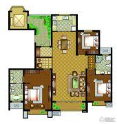 万汇金宸国际3室2厅2卫166平方米户型图