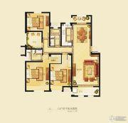 金洋奥澜半岛3室2厅2卫130平方米户型图