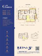 中洲半岛城邦4室2厅2卫113平方米户型图