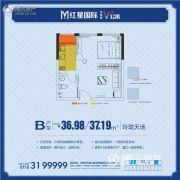 红星国际1室1厅1卫36--37平方米户型图