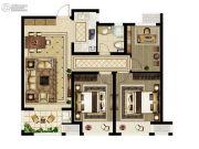 绿都澜湾3室2厅1卫98平方米户型图