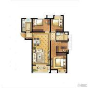 中海世纪公馆3室2厅1卫96平方米户型图