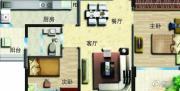 无锡碧桂园2室2厅1卫90平方米户型图