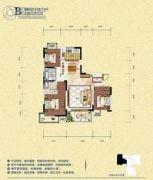 旺佳・华府3室2厅2卫118平方米户型图