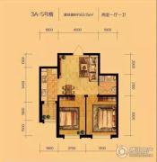 辽阳泛美华庭2室1厅1卫63平方米户型图