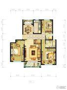 明天华城3室2厅2卫145平方米户型图