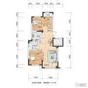 源山别院2室2厅1卫113平方米户型图