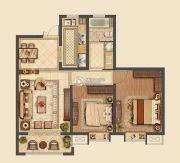 信拓东港国际2室2厅1卫100平方米户型图