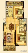 海星御和园2室2厅2卫125平方米户型图