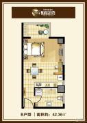 中汉财富湾1室1厅1卫42平方米户型图