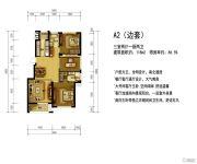 东方俊园3室2厅2卫0平方米户型图
