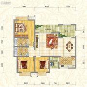 世俊国际3室2厅2卫115平方米户型图