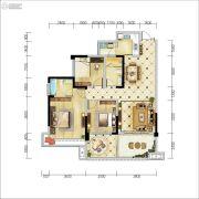 天府金融港3室2厅2卫111平方米户型图