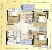 元邦明月水岸3室2厅1卫100平方米户型图