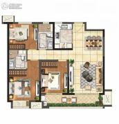 保利悦都3室2厅2卫115平方米户型图
