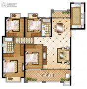 华强城4室2厅2卫161平方米户型图