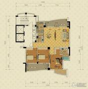 绿城蔚蓝公寓3室2厅2卫160平方米户型图