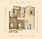凯旋国际3室2厅2卫135平方米户型图