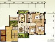 颐和山庄3室2厅2卫127平方米户型图