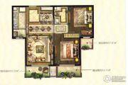 伊丽莎白・东岸2室2厅1卫92平方米户型图