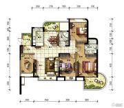 金隅观澜时代4室2厅2卫138平方米户型图