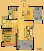 中南世纪城2室2厅1卫74平方米户型图