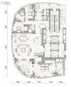 成都银泰中心华悦府4室2厅4卫387平方米户型图