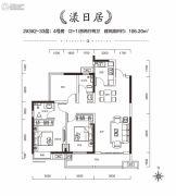 中建・江湾壹号3室2厅2卫106平方米户型图