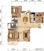 中民仁寿里3室2厅2卫125平方米户型图