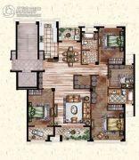 莲桥府4室2厅2卫184平方米户型图