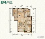 普天格兰绿都3室2厅1卫138平方米户型图
