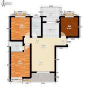 公园华府3室2厅1卫97平方米户型图