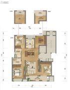澜湖郡二期4室2厅2卫127平方米户型图