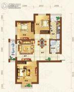 重邦康城3室2厅1卫114平方米户型图