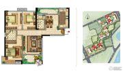 美景嘉园3室2厅2卫135平方米户型图