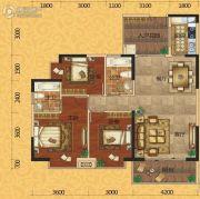 欧景蓝湾3室2厅2卫117平方米户型图