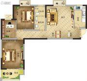 凯旋国际3室2厅1卫99平方米户型图