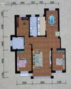 紫金城三期3室2厅2卫0平方米户型图