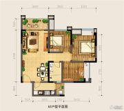 银海中心3室2厅1卫85平方米户型图