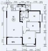 福星城3室2厅1卫110平方米户型图