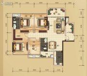 万锦名门4室2厅2卫132平方米户型图
