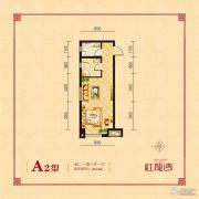 红龙湾2室2厅1卫84平方米户型图