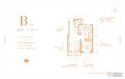 天山国宾壹�2室2厅1卫87平方米户型图
