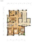 中盛城市广场4室2厅2卫160平方米户型图
