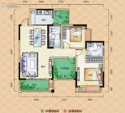 梅溪峰汇3室2厅2卫104平方米户型图