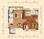 恒大御府3室2厅2卫121平方米户型图