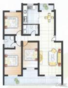 阳光城3室2厅2卫132平方米户型图