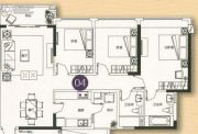 敏捷金月湾3室2厅2卫114平方米户型图