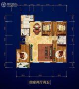 庆丰・御锦湾4室2厅2卫0平方米户型图