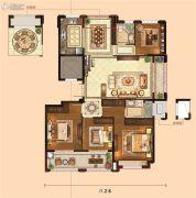 金麟府4室2厅2卫143平方米户型图